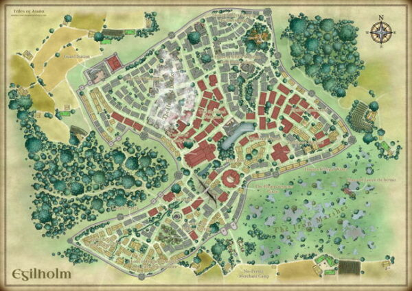 Egilholm city map