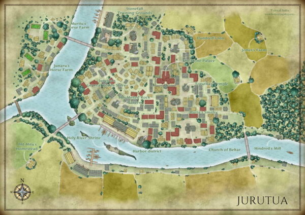 Jurutua city map with labels