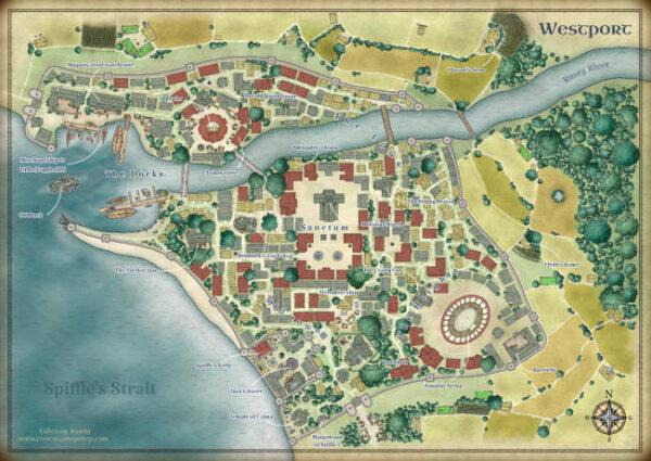 westport city map