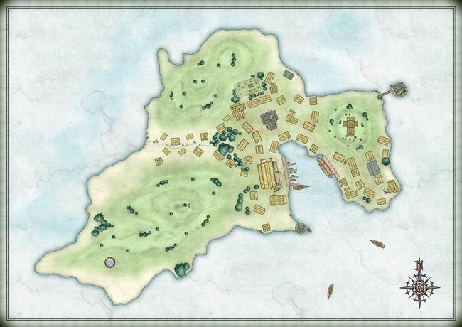 Golley fantasy map island