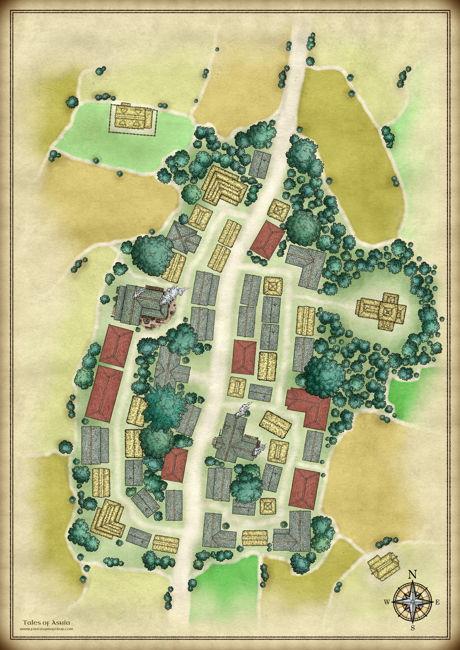 village map of Halfway unlabeled