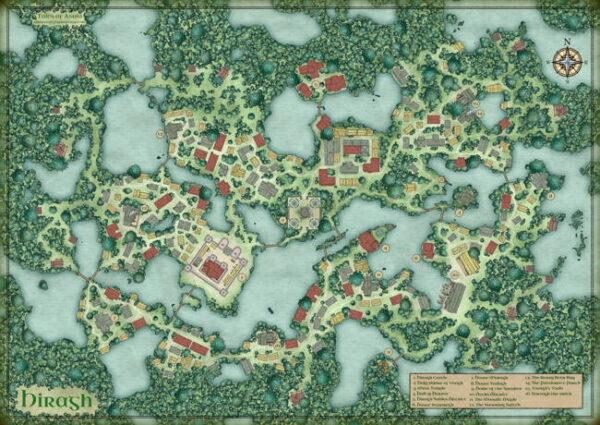 Hiragh swamp town map