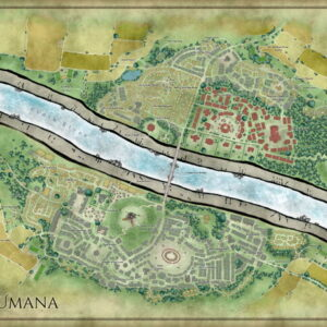 City map of Umana with labels