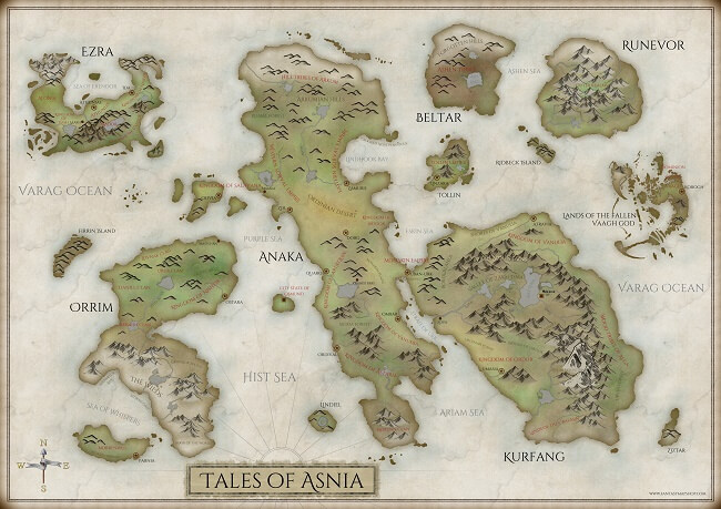 My private project: the Tales of Asnia