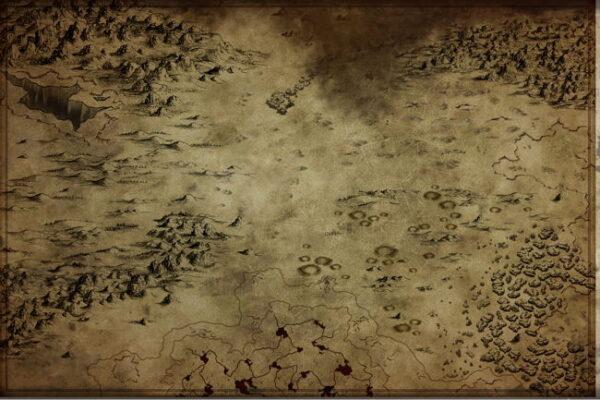 Post-apocalypse fantasy map